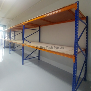 1 Row 4 Linked Bays Pallet Racking System